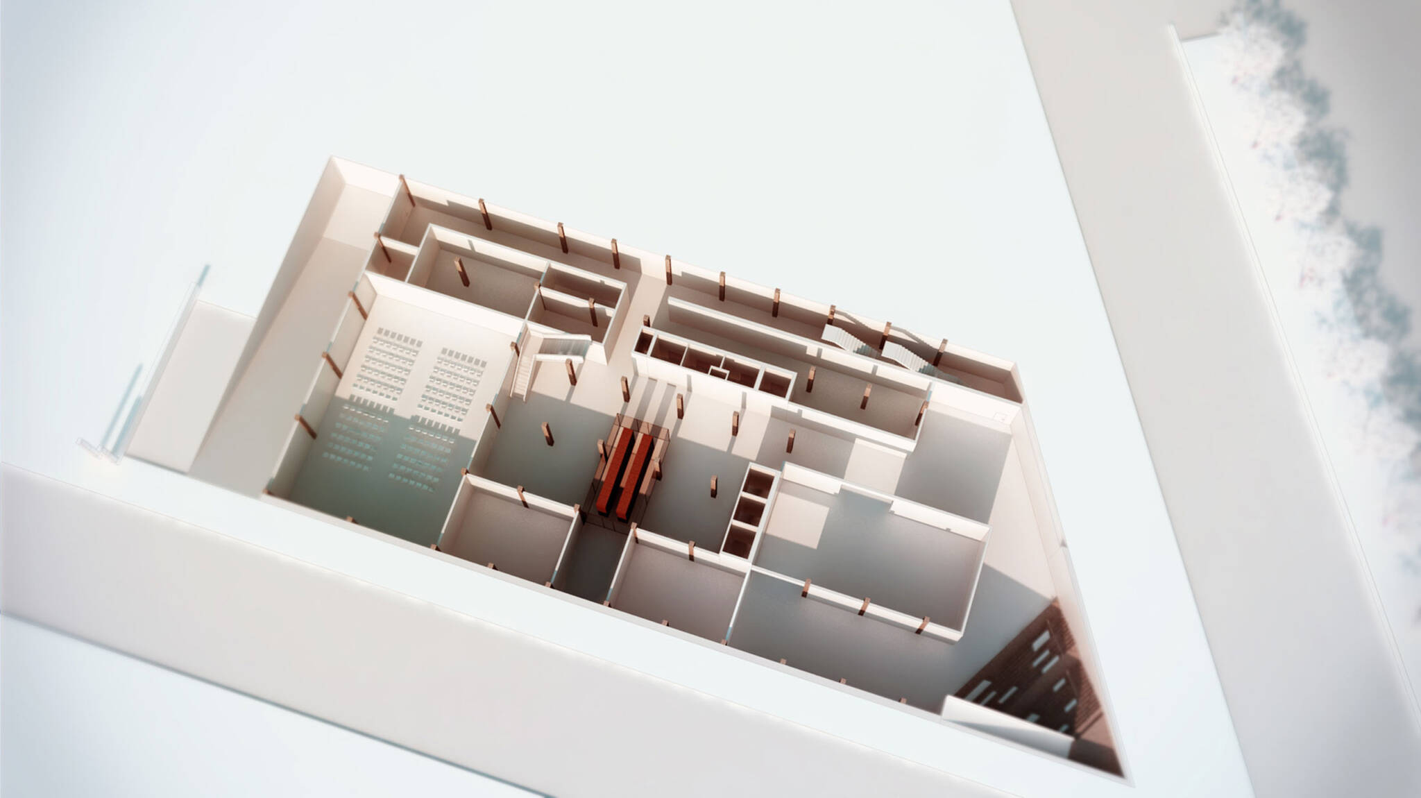 3D floor plan of the American Bible Society project located at the Upper West Side, New York City designed by the architecture studio Danny Forster & Architecture