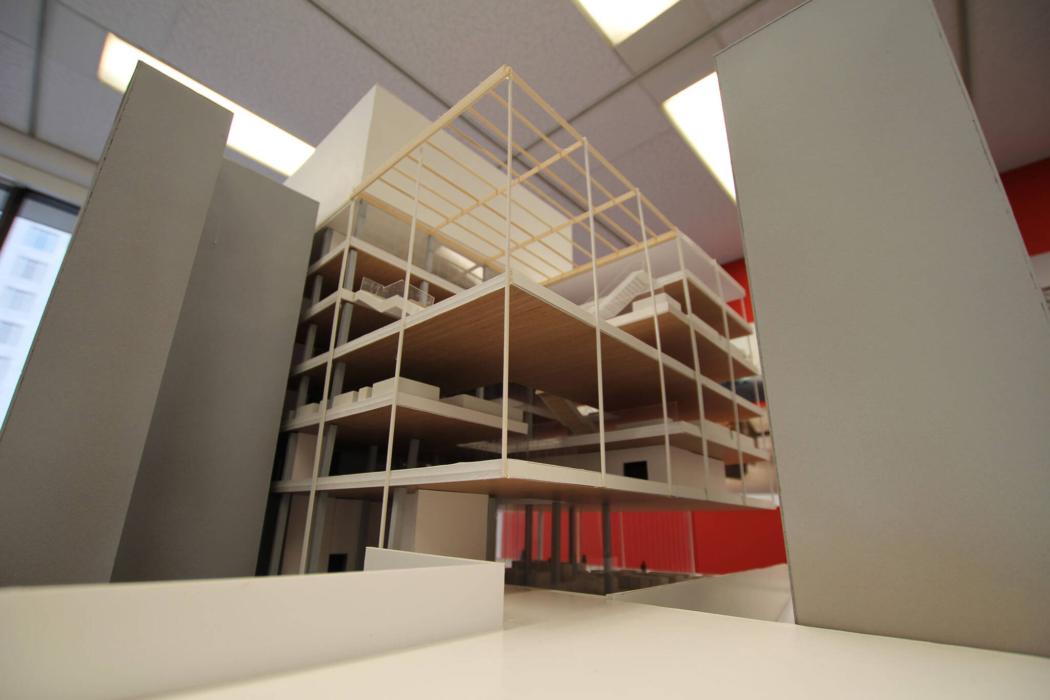 Architectural model of the American Bible Society project located at the Upper West Side, New York City designed by the architecture studio Danny Forster & Architecture