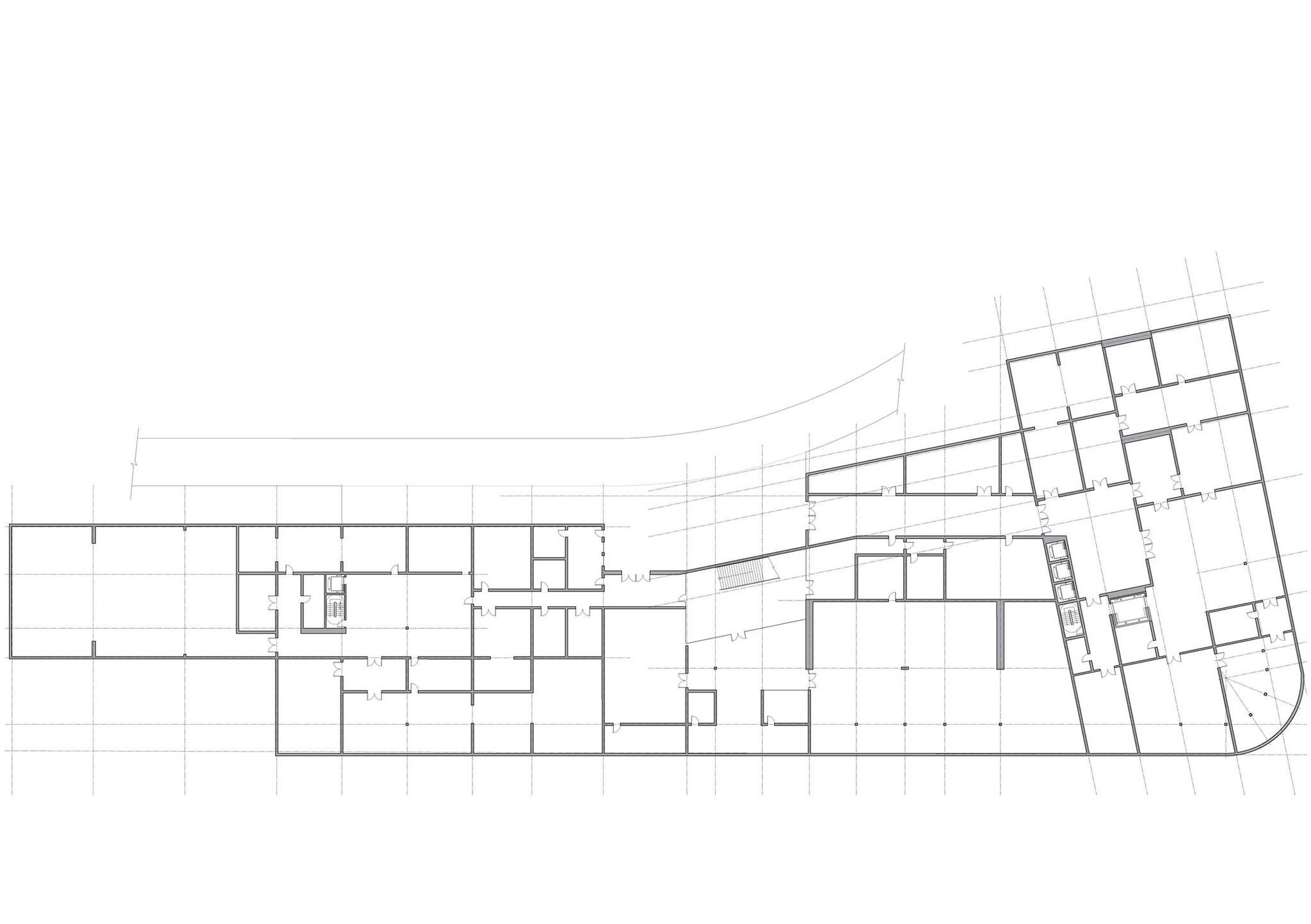 Cellar floor plan of the Museum of Etnography project located in Budapest, Hungary designed by the architecture studio Danny Forster & Architecture