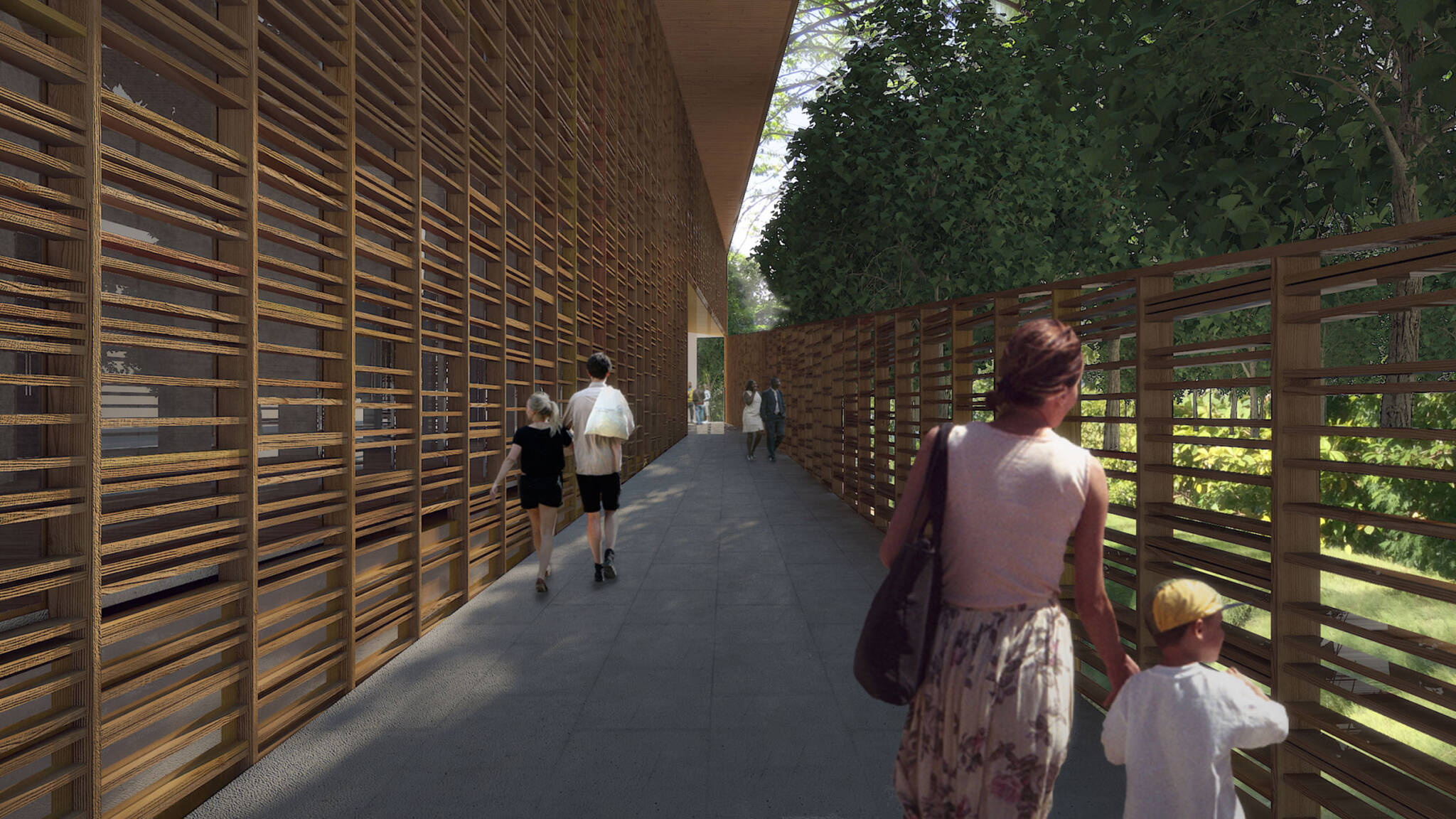 Footway of the Seychelles center project located at Mahé in the Seychelles archipelago designed by the architecture studio Danny Forster & Architecture