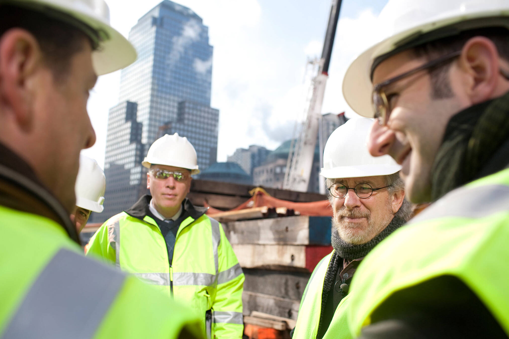Danny Forster and Steven Spielberg on Ground Zero for the Rising: Rebuilding Ground Zero documentary Co-produced by Danny Forster and Steven Spielberg about the rebuilding of the World Trade Center site in the wake of 9/11.
