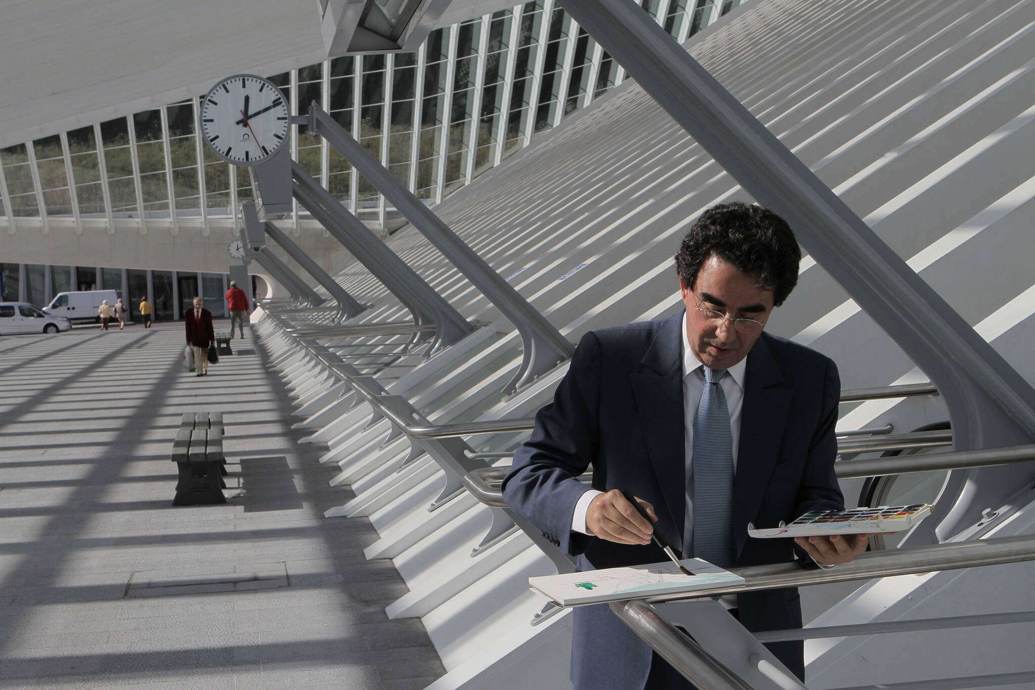 Santiago Calatrava on the Oculus of the Ground Zero area rebuilding project for the Rising: Rebuilding Ground Zero documentary Co-produced by Danny Forster and Steven Spielberg about the rebuilding of the World Trade Center site in the wake of 9/11.